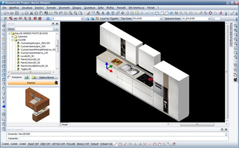 programma per creare cucine in 3d software conversione disegno cad da 2d a 3d fotorealistico