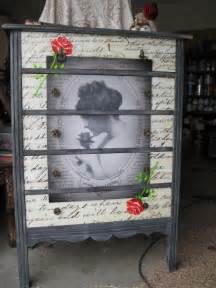 Decoupage Furniture For Sale - decoupage dresser antique dresser chest of drawers with