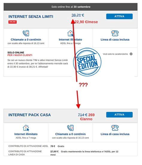 telecom pack casa disdetta linea telefonica i costi sono dovuti gli