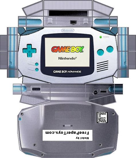 Gameboy Papercraft - gameboy advance po archives