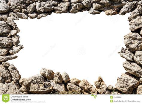 Castle Floor Plans by Cadre De Mur En Pierre Avec Le Trou Vide Photo Stock