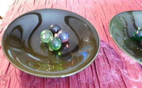Decorative Glass Balls For Bowls by Two Large Decorative Bowls And Ornament Looking