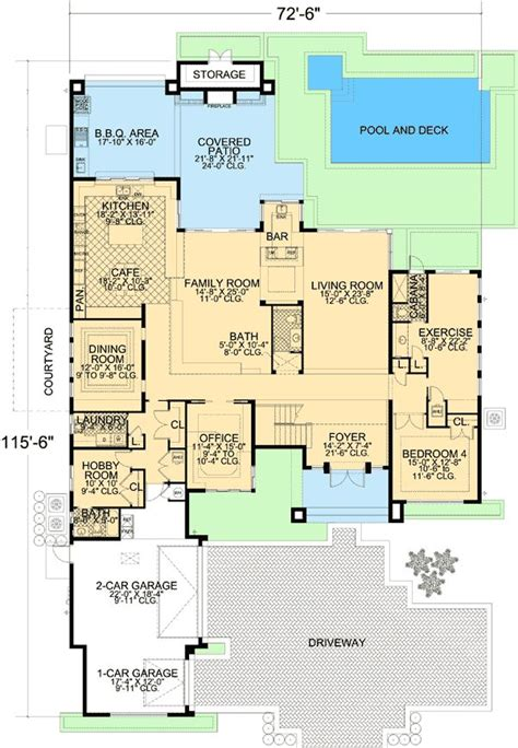 florida floor plans for new homes 90 best images about house plans on pinterest craftsman