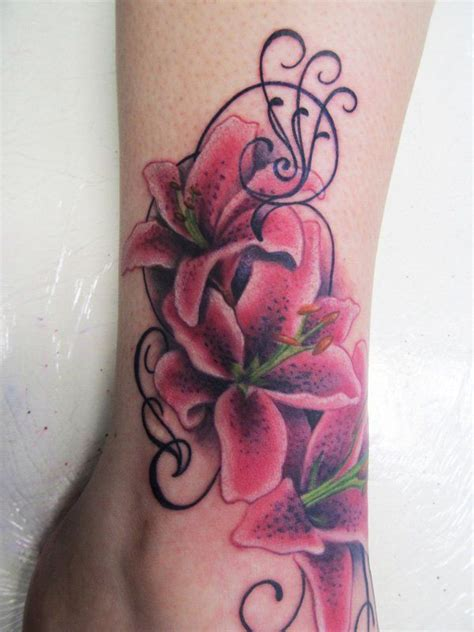 lily swirl tattoo designs best 25 gladiolus ideas on august