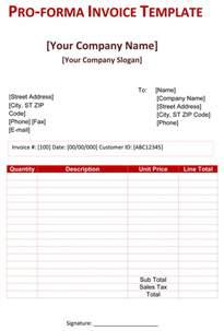 proforma invoice template word doc pro forma invoice template 5 free pro forma invoices