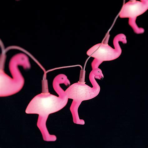 Flamingo Lights dotcomgiftshop string of 10 flamingo lights pink flamingo
