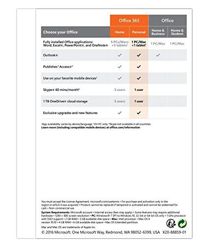 Office Yearly Subscription Microsoft Office 365 Personal 1 Year Subscription 1