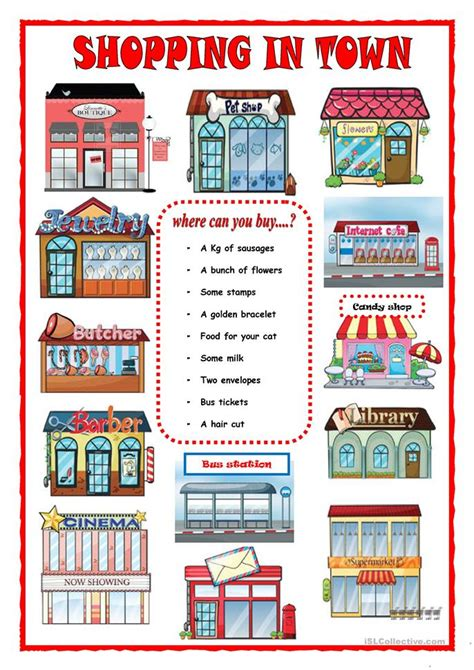 shops in my town worksheet free esl printable worksheets all worksheets 187 shopping worksheets printable