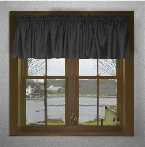 Black Valance Curtains Solid Black Color Valance In Many Lengths Custom Size