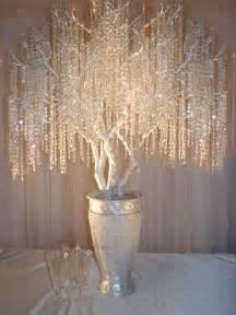 Hanging Glass Vase Long Reception Manzanita Crystal Tree Centerpieces Weddingbee