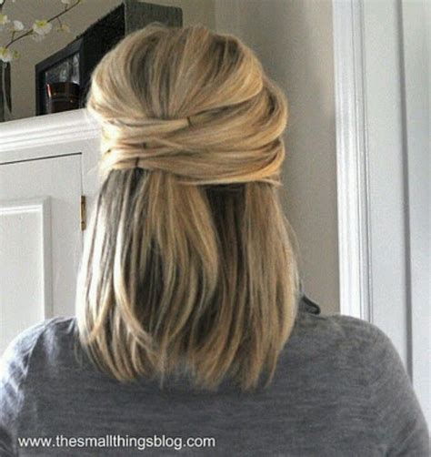 partial updos for medium length hair cute half updo for shoulder length hair prom pinterest wedding my hair and bobby pins