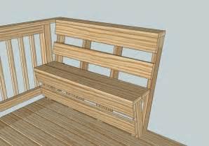 bench railing custom deck bench and railing kreg owners community