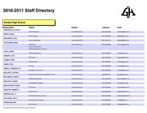 Company Directory Template by Employee List Template Helloalive