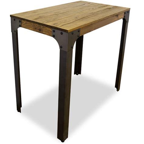 mesas altas y taburetes mesa alta boston madera de pino para taburetes bar industrial