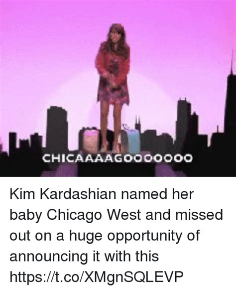 is kim kardashian s baby named chicago kim kardashian named her baby chicago west and missed out
