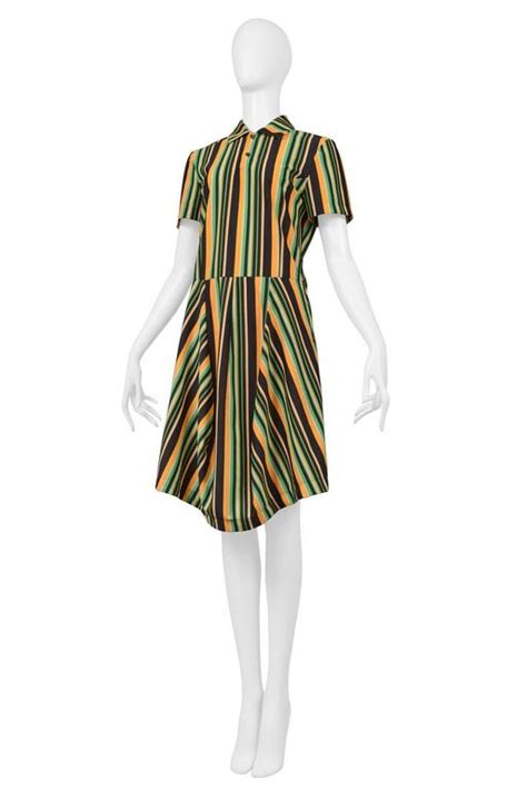 Cdg Stripe Dress comme des garcons stripe ss polo dress 1996 for sale at 1stdibs