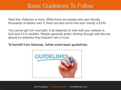 adsense quality guidelines how to get started with adsense