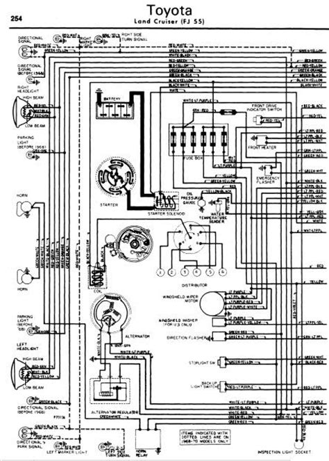 toyota land cruiser fj55 1962 70 wiring diagrams