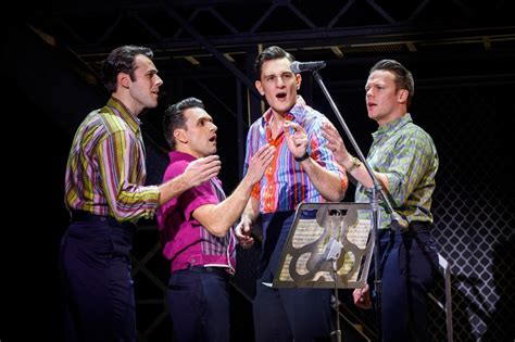 jersey boys broadway a first look at the return of jersey boys off broadway