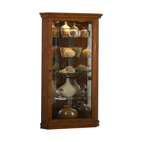 Lighted Corner Curio Cabinet by Corner Lighted Curio Cabinet In Mahogany The Advantages