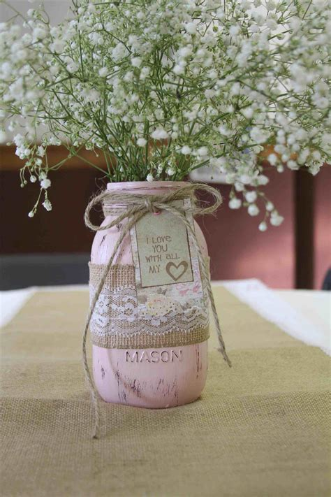 bridal shower table decorations with jars painted jar wedding centerpieces siudy net