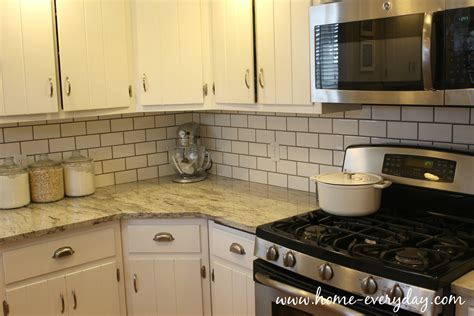 no backsplash in kitchen how to install a tile backsplash without thinset or mastic home everyday
