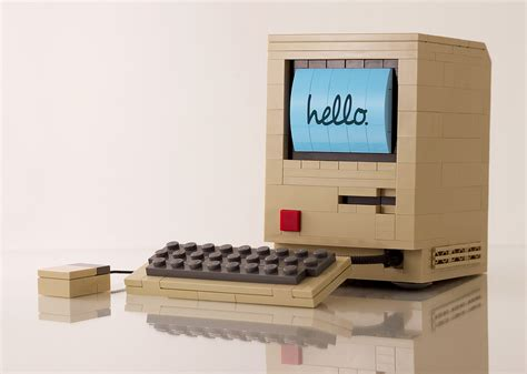 Mac Original original mac computer made out of legos the fox is black