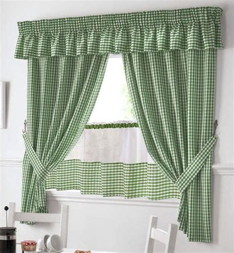 green and white gingham curtains green and white gingham kitchen curtains pelmet 24 cafe