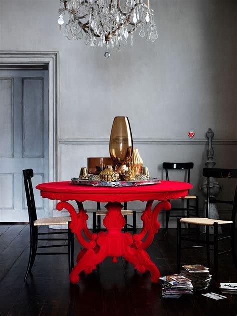 red dining room table 11 ways to add a pop of red can you find them all
