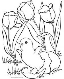 Galerry coloring pages for adults spring
