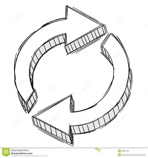 arrow doodle free vector doodle of a refresh arrow sign stock vector image 22006725