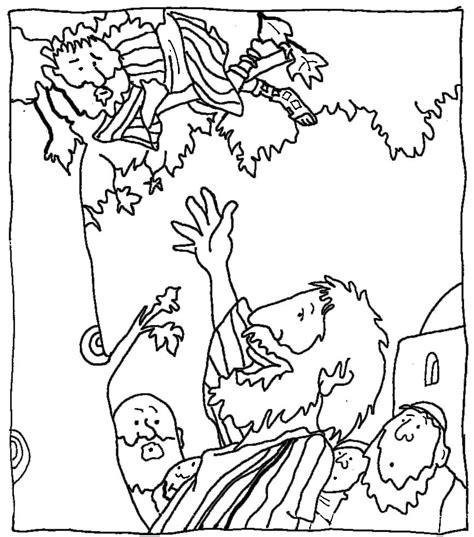 imagenes de jesus y zaqueo para colorear zaqueo