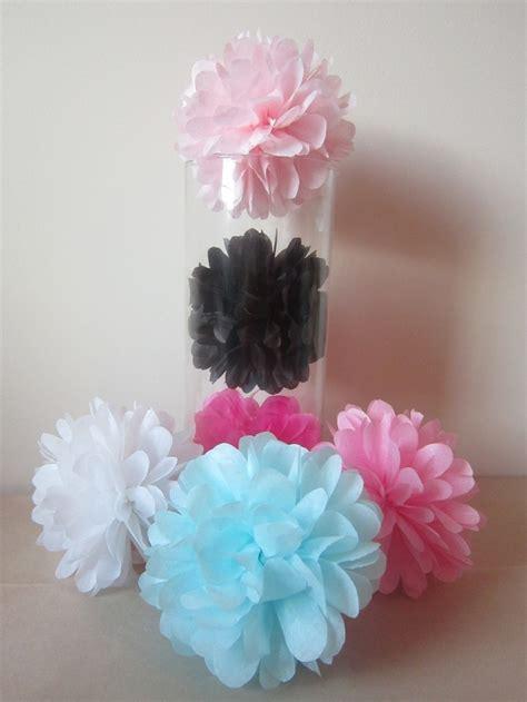 How To Make Mini Tissue Paper Pom Poms - 15 mini tissue paper pom poms 4 5 in diameter you