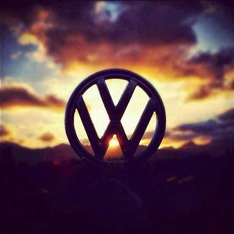 volkswagen logo vw logo on sun