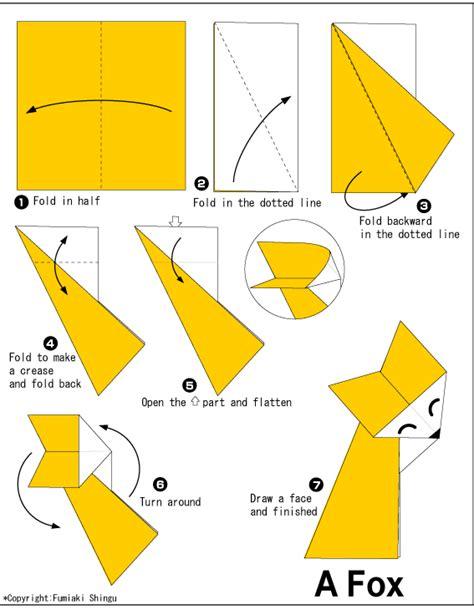Easy Origami Fox - origami zorro