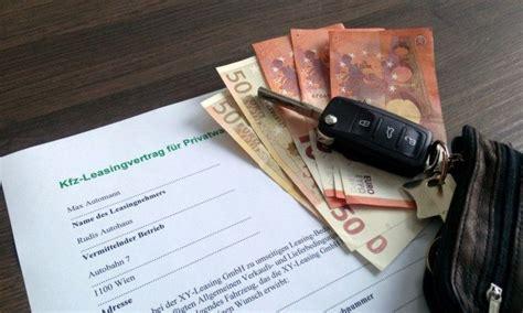 Auto Leasing Voraussetzung by Auto Leasen Kredit Aufnehmen Oder Bar Kaufen