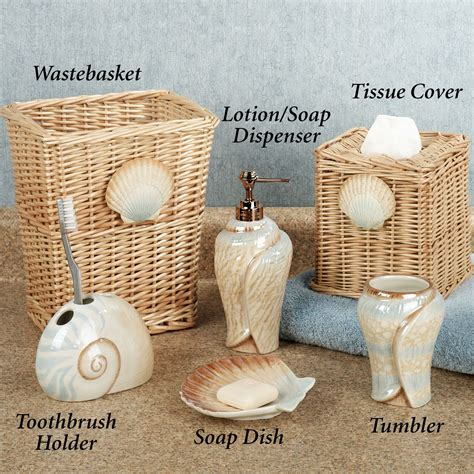seashell bathroom sets seashells bathroom decor home interior design
