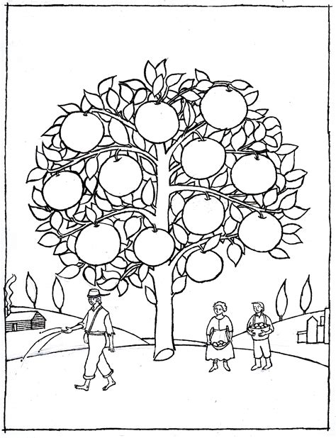 appleseed coloring page free johnny appleseed coloring pages az coloring pages