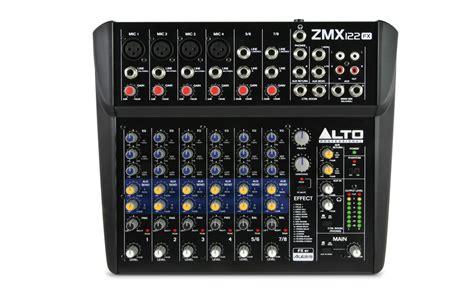Mixer Alto 12 Ch alto professional zmx122fx zephyr zmx series 8 channel