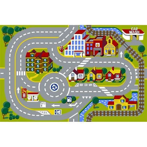 Tapis Route Voiture by Tapis Circuit Voiture City Modular Achat Vente Tapis
