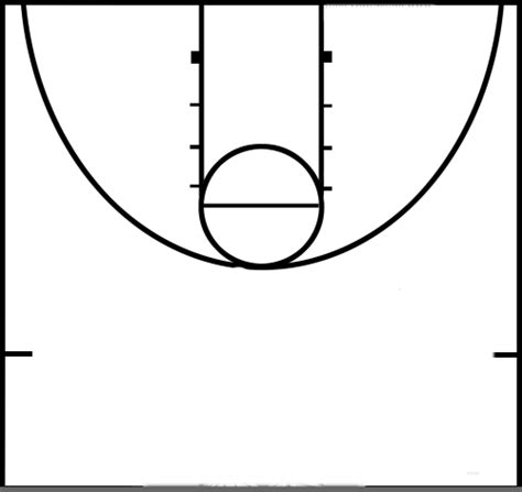 half court basketball template basketball half court template clipart best clipart best