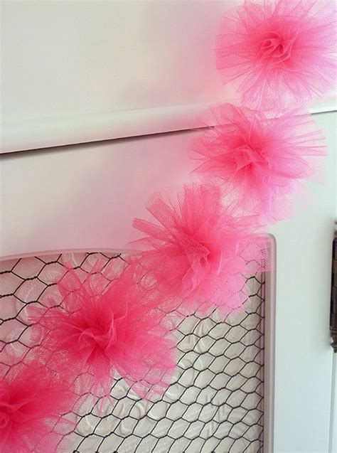 How To Make Tulle Pom Pom Decorations by Tulle Pom Pom Garland Ideas Decorations