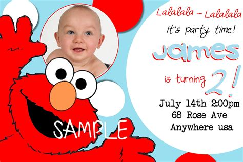 printable birthday cards elmo free printable elmo birthday invitations with photo
