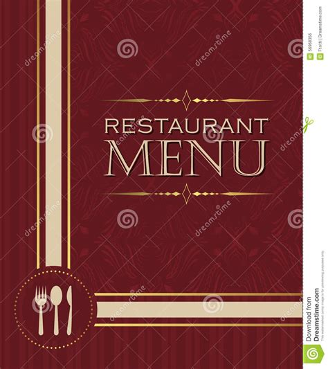 restaurant cover layout restaurant menu design cover template in retro style 02