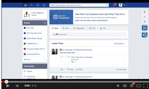 edmodo free download for laptop snapshot a great new edmodo tool for teachers