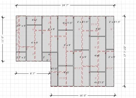 joint layout plan question on second layer of drywall layout for ceiling