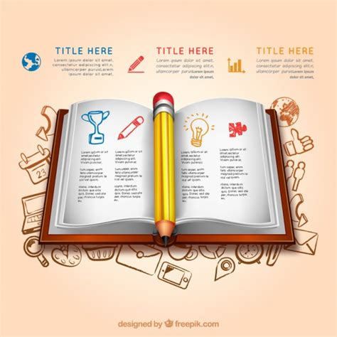 open book infographic vector free download education infographic with an open book vector free download