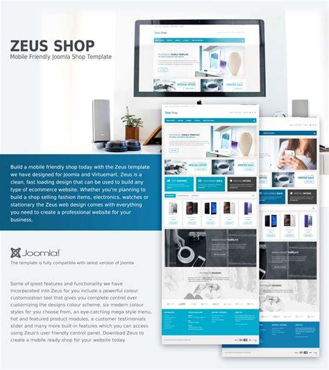 zeus shop joomla template joomla templates designs