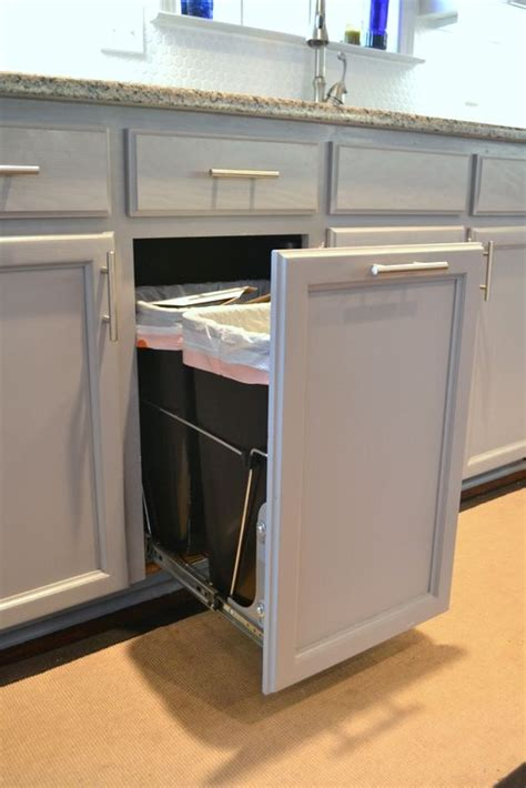 built in trash can cabinet 25 best kitchen trash cans ideas on