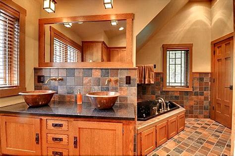 mission style bathroom craftsman bathroom minnesota listing hooked on houses